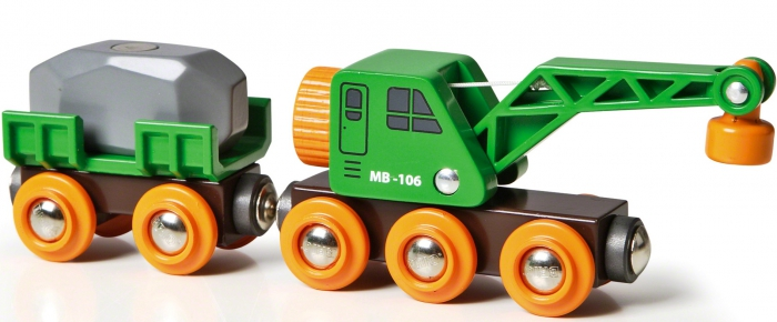 BRIO Crane Wagon and Vehicle 33698