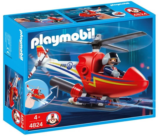 Playmobil Fire Fighting Helicopter 4824