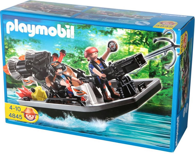 Playmobil Treasure Robbers Boat with Cannon 4845