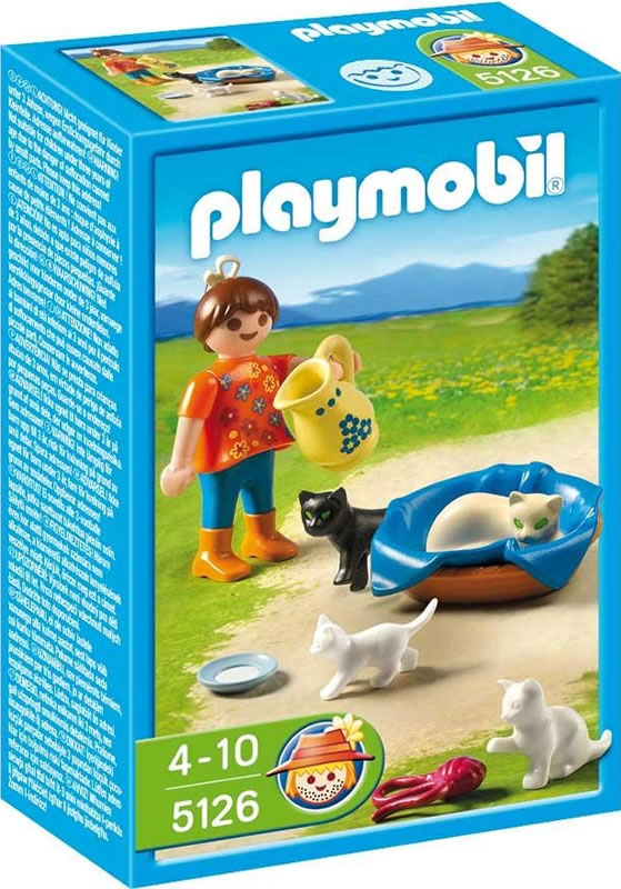 Playmobil Girl with cat family 5126