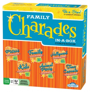 OUTSET Family Charades In a Box Compendium 11166