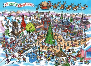 COBBLE HILL - DoodleTown 12 Days of Christmas