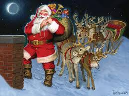 COBBLE HILL Santa by the Chimney 58883