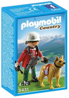 Playmobil Mountain Rescuer with Search Dog 5431