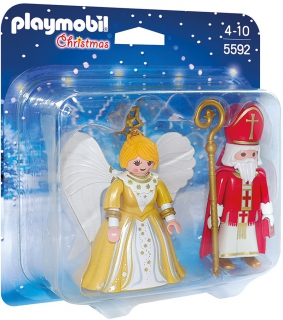 St. Nicholas and Christmas Angel 5592