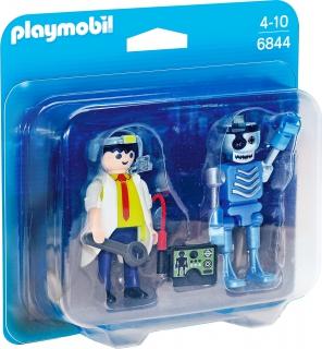 Scientist with Robot 6844
