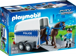 Playmobil Police with Horse and Trailer 6922