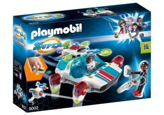 Playmobil, FulguriX with Agent Gene, Playmobil 9002, Super 4