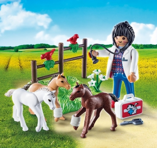 Playmobil Vet with Foals Egg 9207