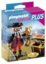 Pirate with Treasure Chest 4783