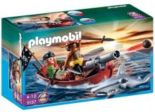 Playmobil Pirates Rowboat with Shark 5137