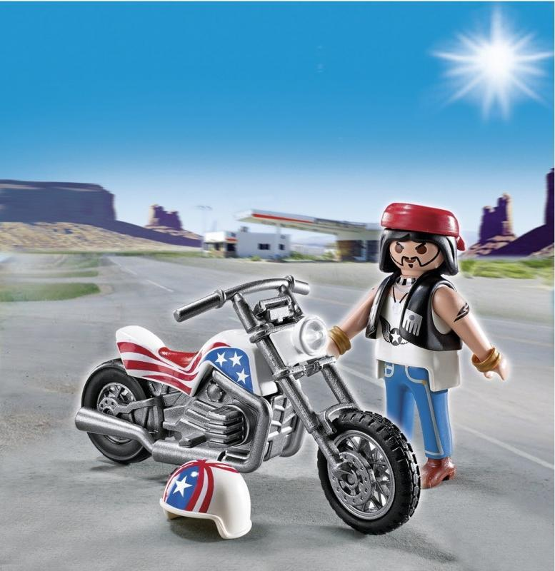 Playmobil Biker With Motorcycle Egg 5280 Table Mountain Toys