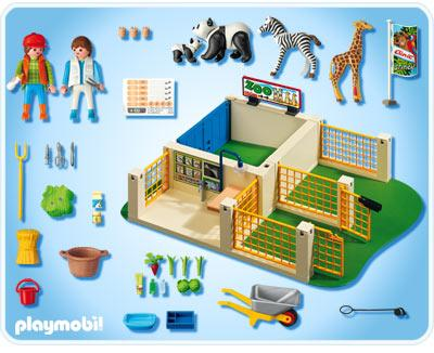 Playmobil zoo animal care station 4009 table mountain toys for Salle bain playmobil