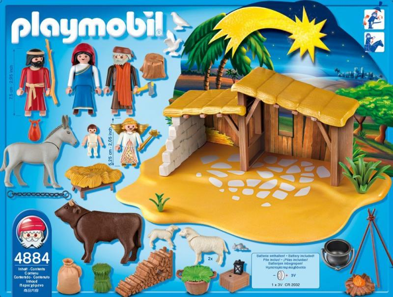 playmobil nativity manger with stable 4884 table. Black Bedroom Furniture Sets. Home Design Ideas