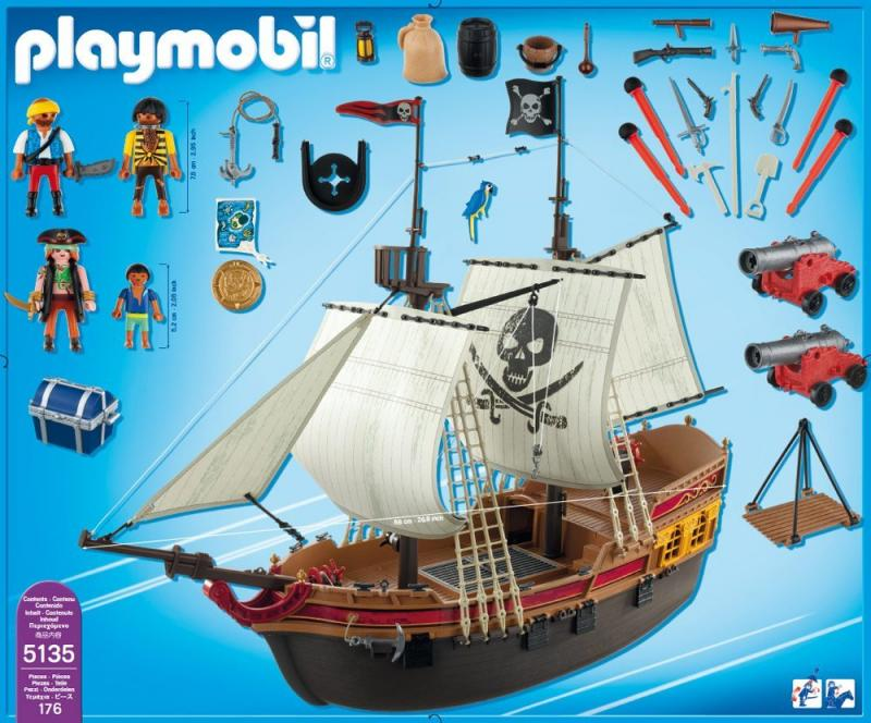 playmobil pirate attack ship 5135 table mountain toys. Black Bedroom Furniture Sets. Home Design Ideas