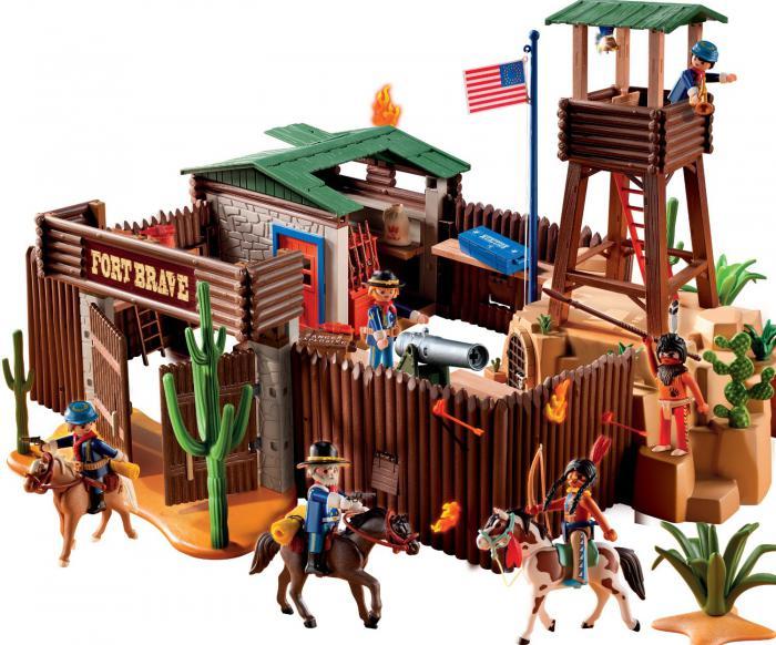 Playmobil western fort 5245 table mountain toys - Table de jeu playmobil ...