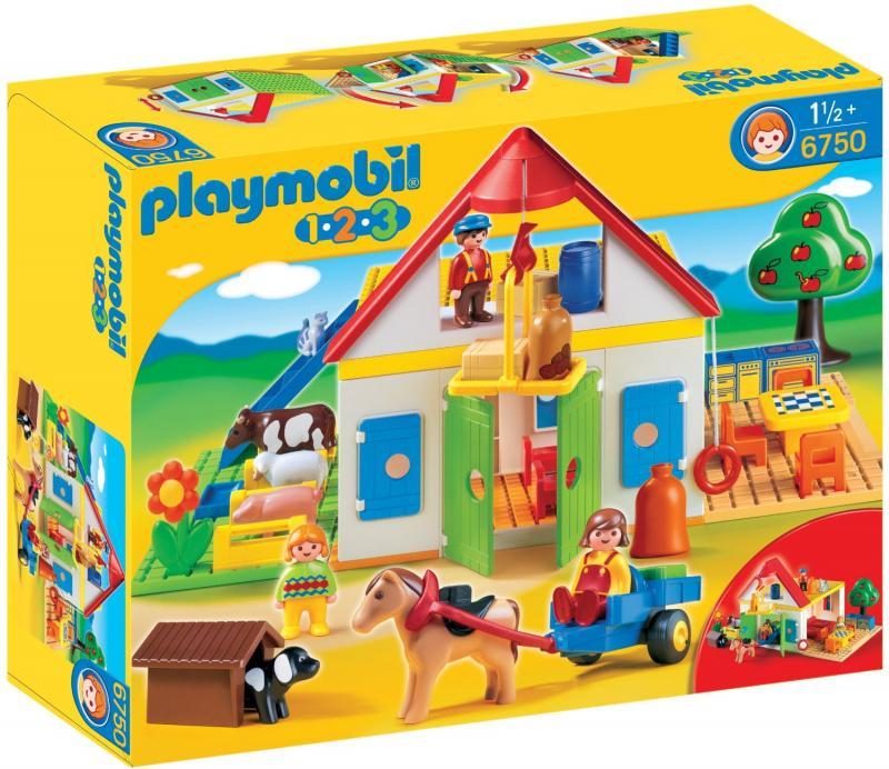 playmobil large farm 6750 table mountain toys. Black Bedroom Furniture Sets. Home Design Ideas