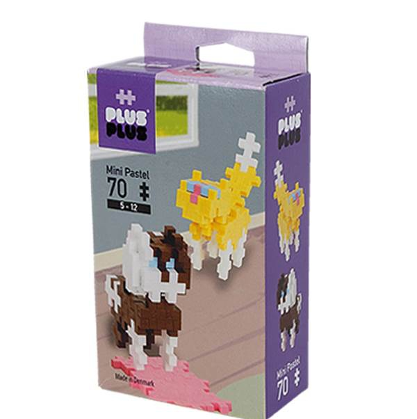 Plus-Plus Mini Pastel 70 CAT & DOG 3754