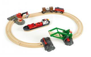 BRIO Cargo Harbour Train Set - 33061