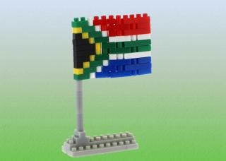 BRIXIES South Africa Flag Postcard BX240023