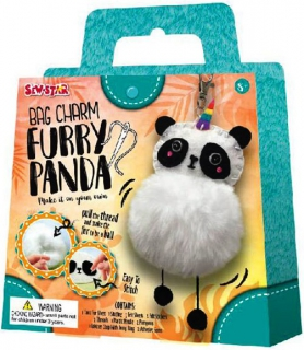 Sew-Star Bag Charm Furry Panda