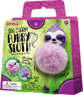 Sew-Star Bag Charm Furry Sloth