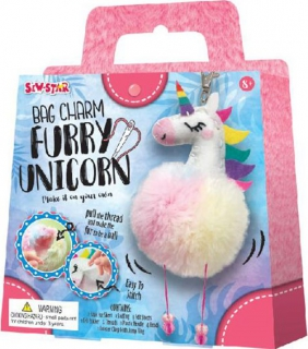 Sew-Star Bag Charm Furry Unicorn