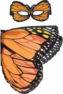 Dreamy Dress-ups Orange Monarch Butterfly Wings and Mask 66063
