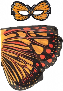 Dreamy Dress-ups Orange Burst Butterfly Mask and Wings 66360