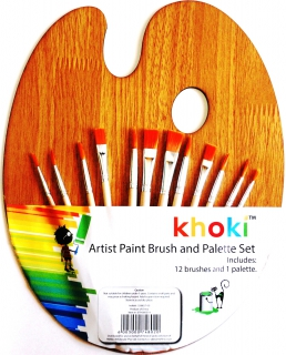 Khoki Artist Paint Brush and Palette Set