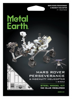 Metal Earth Mars Rover Perseverance & Ingenuity Helicopter MMS465