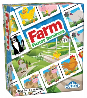 OUTSET Picture Dominoes: Farm 19207