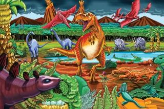 COBBLE HILL Dinosaur Volcano 55106