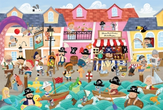 COBBLE HILL Pirates on Vacation 55118