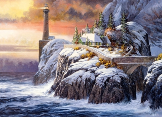 COBBLE HILL - Winter Lighthouse