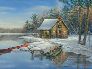 COBBLE HILL Winter Cabin 88021