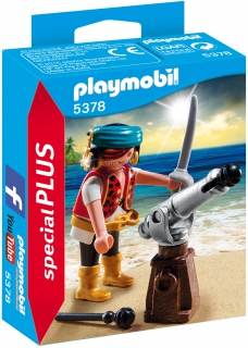 Pirate with Cannon 5378