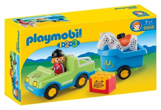 Playmobil Car with Horse Trailer 6958