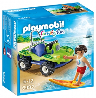 Surfer with Beach Quad 6982