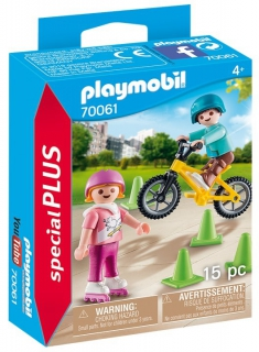 Playmobil Children with Skates and Bike 70061