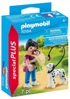 Playmobil Mother with Baby and Dog 70154