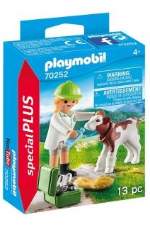 Playmobil Vet with Calf 70252