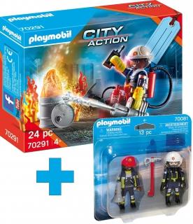 Playmobil Fire Rescue Gift Set bundle