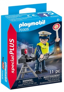 Playmobil Police Officer with Speedtrap 70305