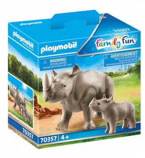 Playmobil Rhino with Calf 70357