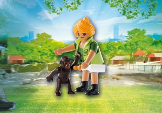 Playmobil Zookeeper with baby Gorilla 9074