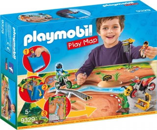 Playmobil Motocross Play Map 9329