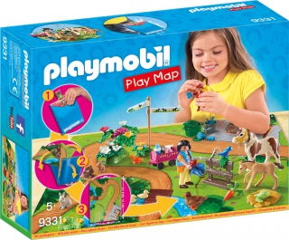 Playmobil Pony Walk Play Map 9331