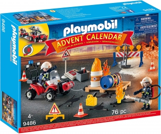 Playmobil Construction Site Fire Rescue Advent Calendar 9486