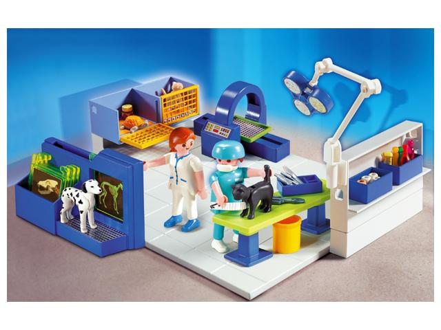 Playmobil vet operating room 4346 table mountain toys for Table playmobil